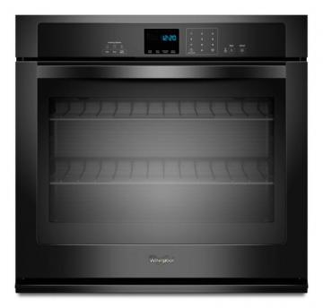 Whirlpool 4.3 cu. ft. Single Wall Oven with SteamClean Option in Black