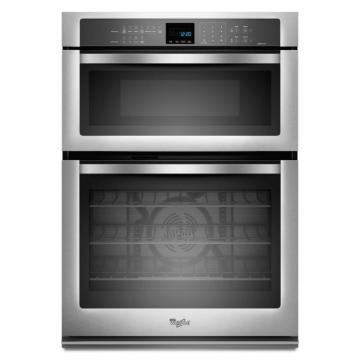 Whirlpool Gold  5.0 cu. ft. Microwave and Wall Oven with True Convection Cooking in Stainless Steel