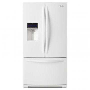 Whirlpool 24.7 cu. ft. French Door Refrigerator with MicroEdge Shelves in White