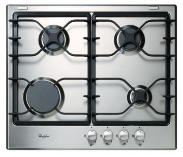 "Whirlpool 23.25"" Gas Cooktop in Stainless Steel"