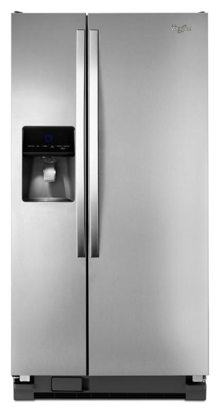 Whirlpool 21.3 cu. ft. Side-by-Side Refrigerator with Water Dispenser in Stainless Steel