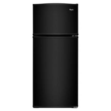Whirlpool 16 cu. ft. Top Freezer Refrigerator with Improved Design in Black