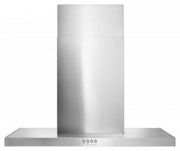 "Whirlpool 30"" 400 CFM Convertible Glass Ventilation Hood with Glass Edge"