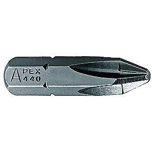 "Apex #0 Phillips Insert Bit, 1/4"" Hex"