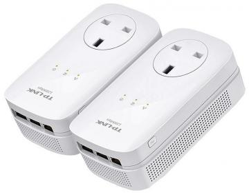 TP-Link AV1200 3-Port Gigabit Passthrough Powerline Starter Kit