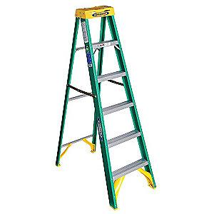 Werner 6 ft. 225 lb. Load Capacity Fiberglass Stepladder