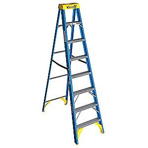 Werner 8 ft. 250 lb. Load Capacity Fiberglass Stepladder