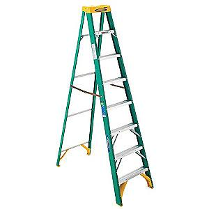 Werner 8 ft. 225 lb. Load Capacity Fiberglass Stepladder