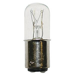LumaPro Trade Number C243-1, 7.0 Watts Miniature Incandescent Bulb, T6, BA15d Bayonet
