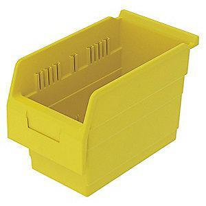 "Akro-Mils Shelf Bin, Yellow, 8""H x 11-5/8""L x 6-5/8""W, 1EA"