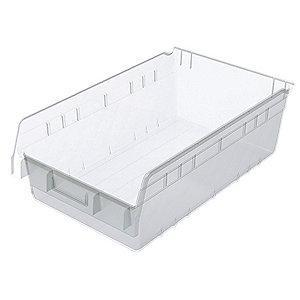 "Akro-Mils Shelf Bin, Clear, 6""H x 17-7/8""L x 11-1/8""W, 1EA"