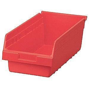 "Akro-Mils Shelf Bin, Red, 6""H x 17-7/8""L x 8-3/8""W, 1EA"