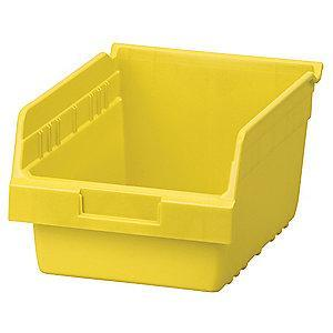 "Akro-Mils Shelf Bin, Yellow, 6""H x 11-5/8""L x 8-3/8""W, 1EA"