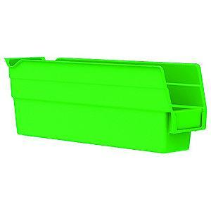 "Akro-Mils Shelf Bin, Green, 4""H x 11-5/8""L x 2-3/4""W, 1EA"