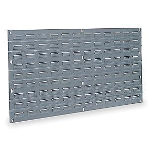 "Akro-Mils 35-3/4"" x 5/16"" x 19"" Louvered Panel with 160 lb. Load Capacity, Gray"
