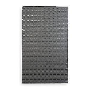 "Akro-Mils 36"" x 5/16"" x 61"" Louvered Panel with 1000 lb. Load Capacity, Gray"