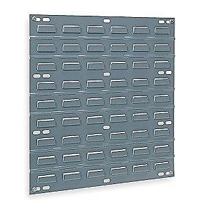 "Akro-Mils 18"" x 5/16"" x 19"" Louvered Panel with 160 lb. Load Capacity, Gray"
