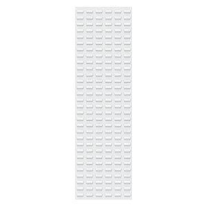 "Akro-Mils 18"" x 5/16"" x 61"" Louvered Panel with 500 lb. Load Capacity, White"