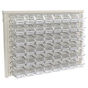 "Akro-Mils 37-1/2"" x 1-3/4"" x 25-3/8"" Louvered Panel with 50 lb. Load Capacity, White"