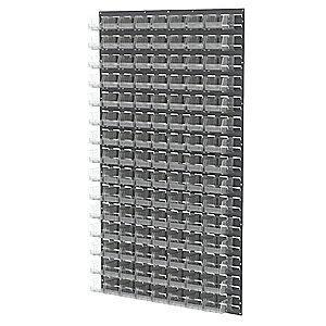 "Akro-Mils 36"" x 4-5/8"" x 61"" Louvered Panel with 1000 lb. Load Capacity, Gray"