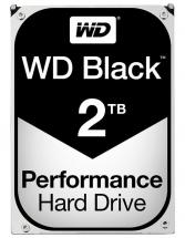 "WD Black 3.5"" Internal HDD SATA 6GB/s - 2TB, 7200RPM"