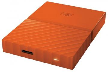 WD My Passport USB 3.0 Portable Hard Drive, 2TB Orange