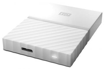WD My Passport USB 3.0 Portable Hard Drive, 3TB White