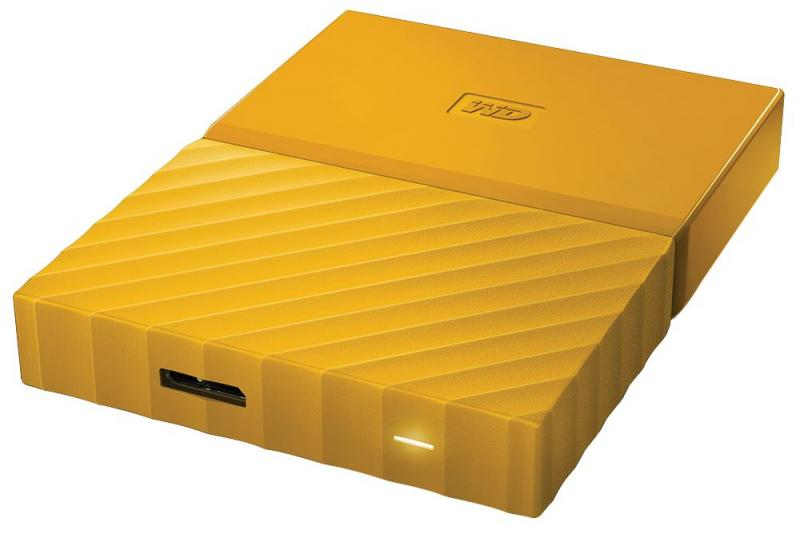 WD My Passport USB 3.0 Portable Hard Drive, 2TB Yellow