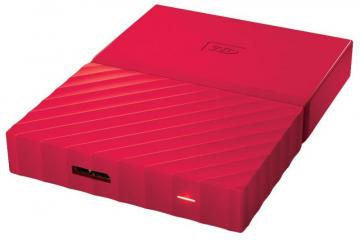 WD My Passport USB 3.0 Portable Hard Drive, 1TB Red