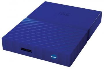WD My Passport USB 3.0 Portable Hard Drive, 3TB Blue