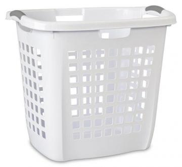 Sterilite Ultra Easy Carry Hamper, White, 19-7/8-In.