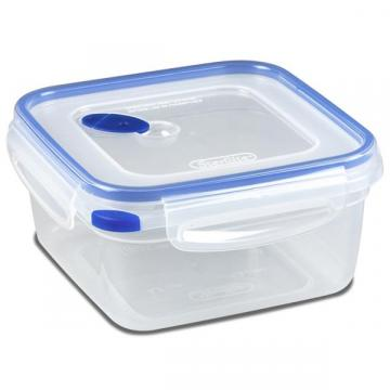 Sterilite Ultra-Seal Food Container, Square, Clear/Blue, 5.7-Cups