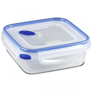 Sterilite Ultra-Seal Food Container, Square, Clear/Blue, 4-Cups