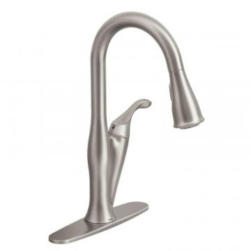 Moen Benton 1 Handle Kitchen Faucet with Matching Pulldown Wand - Spot Resist Stainless Finish
