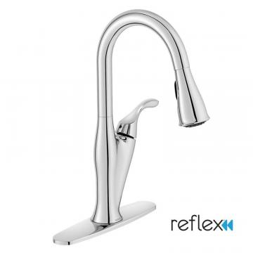 Moen Benton 1 Handle Kitchen Faucet with Matching Pulldown Wand - Chrome Finish
