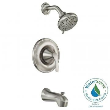 Moen Darcy Single-Handle Posi-Temp Bath/Shower Faucet in Spot Resist Brushed Nickel