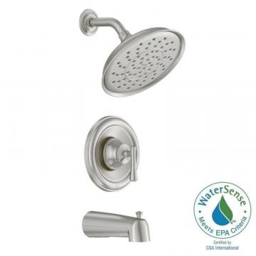 Moen Ashville Single-Handle Bath/Shower Faucet in Spot Resist Brushed Nickel