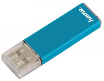 Hama 16GB Valore USB 2.0 Flash Drive - 25MB/s, Turquoise