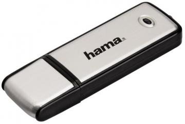 Hama 64GB Fancy USB 2.0 Flash Drive - 10 MB/s, Black/Silver
