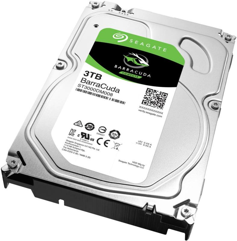 "Seagate BarraCuda 3.5"" Desktop Hard Drive, 3TB"