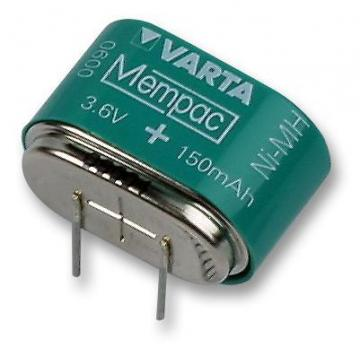 Varta 3.6V 150mAh PCB Mount Memory Protection Battery