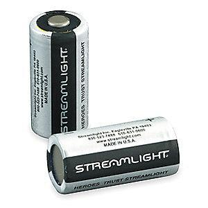 Streamlight Lithium Battery, Voltage 3, Battery Size 123, 2 PK