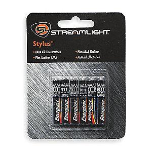 Streamlight AAAA Standard Battery, Stylus, Alkaline, PK6