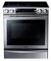 Samsung 5.8 cu. ft. Slide-in Electric Range with Flex Duo Oven in Stainless Steel