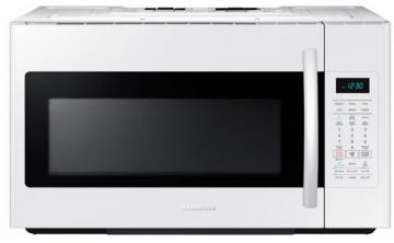 Samsung 1.8 cu. ft. Over-the-Range Microwave Hood Combo with Ceramic Cavity in White
