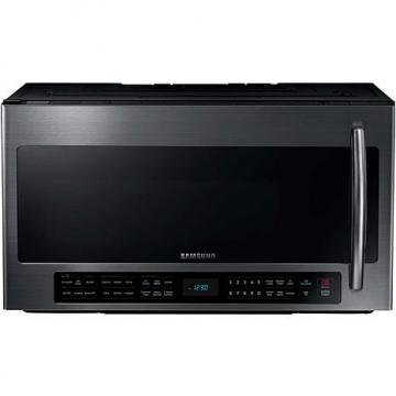 Samsung 1000W Over-the-Range 2.1 Cu. Ft. Microwave Oven with Smart Sensor Cooking - Black Stainless