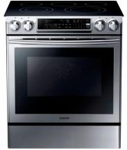 Samsung 5.8 cu. ft. Slide-in Electric Range with Dual Convection System in Stainless Steel