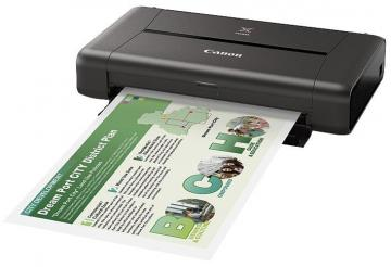 Canon PIXMA iP110 Portable Wireless Inkjet Printer with Battery