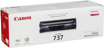 Canon 737 Toner Cartridge, Black 2400 Pages