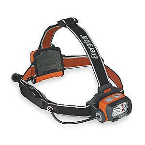 Energizer LED Headlamp, Plastic, 50,000 hr. Lamp Life, Maximum Lumens Output: 75, Orange
